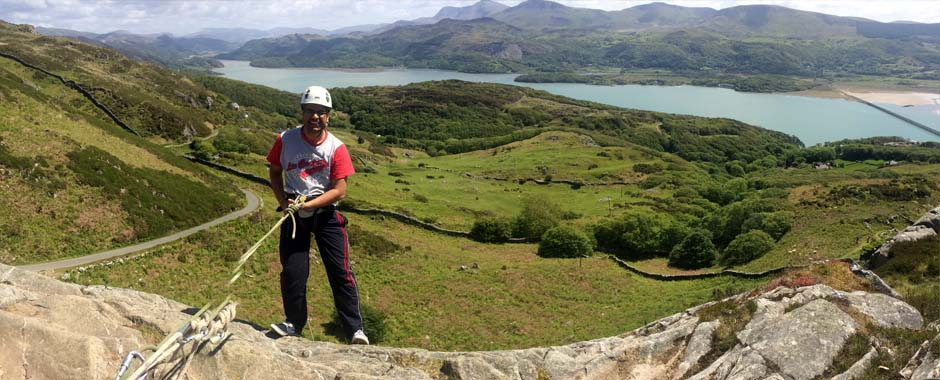 abseiling, take a breath and step over the edge!