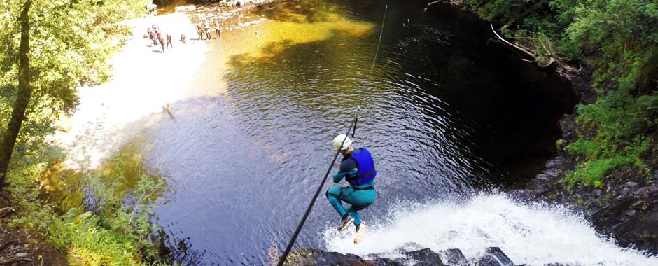 Canyoning is our most popular activity, theres evena  zipline off a waterfall