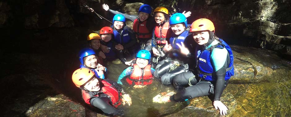 Canyoning is our most popular activity, come and get involved, there's even a natural jacuzzi!