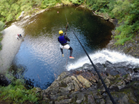 extreme, exciting, wild, fun and scary activities like canyoning with Snowdonia Adventure Activities